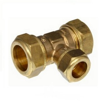 T-Verschraubung TVM 2215, Ø 22-15-22 mm, Gold, Messing